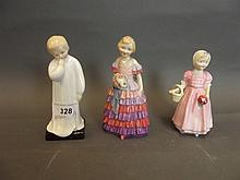 Three Royal Doulton figures 'The Little
