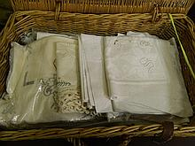 A large quantity of lace and linen
