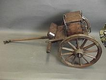 A good C19th oak and iron bound model of a gun