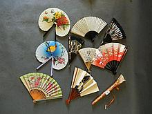 A collection of Oriental and Spanish fans (9)