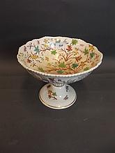 A large C19th Staffordshire pottery tazza