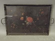 A Victorian Toleware Pontypool tea tray with