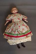 A Bisque headed doll impressed 'Baby', 'British