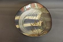 An Art Pottery bowl signed Lawel Keelery,