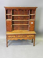 A C19th apprentice oak model of a Welsh dresser