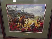 A colour print, 'Kentucky Derby, May 1st 2004' by