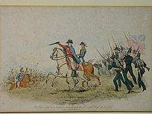 A C19th coloured engraving, 'The Duke lead on a