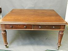A William IV mahogany partners library table with