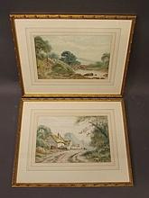 Henry Hilton, pair of signed watercolours, figures