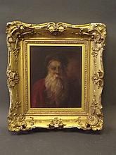 A C19th oil on canvas, portrait of a gentleman,