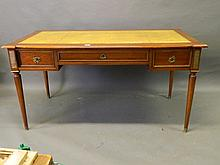 An early C20th French Empire mahogany writing