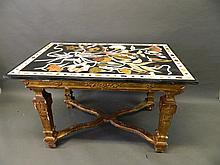 An C18th Continental carved giltwood centre table