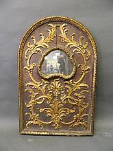 An C18th Italian carved and painted gilt wood