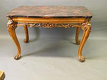 A good C19th Continental carved maple centre table