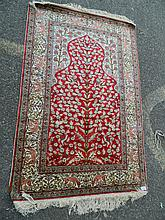 A Persian silk 'Tree of Life' rug, 56