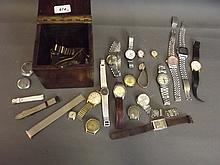 A quantity of gentleman's wristwatches including