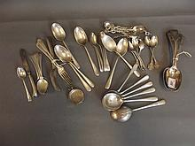 A quantity of Hallmarked silver flatware,