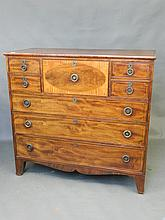 A good George III large mahogany chest of drawers