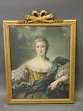A French pastel drawing, portrait of a lady