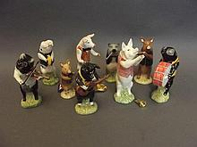 A set of Beswick pottery pig musicians, 6'' high