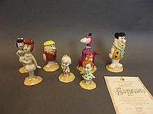 A set of seven Royal Doulton Flintstones