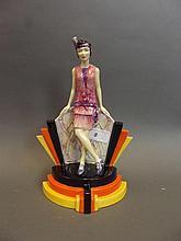 A Kevin Francis pottery figure 'Hullabalu-lu'
