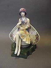 A Kevin Francis pottery figure of Charlotte Rhead