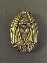 An unusual C19th vesta in the form of a bat, 2¾''