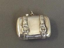 A Continental silver vesta in the form of a