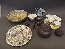 A quantity of Oriental items etc