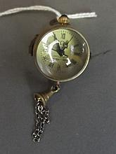 A small brass bound bubble clock, 1