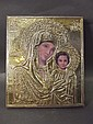 A continental 925 silver religious icon, 6'' x