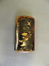 A good C19th Japanese tortoiseshell cigarette case