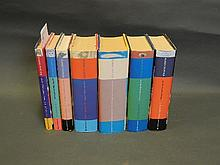 A hardback set of the 7 Harry Potter books by J.K.