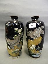 A good pair of Meiji period Japanese cloisonné