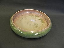 A large Moorcroft lustre glazed shallow bowl,
