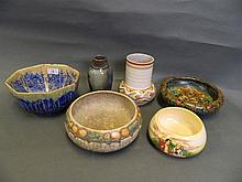 A quantity of Art Deco pottery to include Gouda,