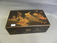 A C19th Japanese lacquered writing slope decorated