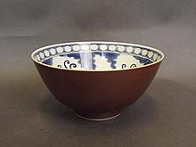 A fine Chinese blue and white porcelain bowl with
