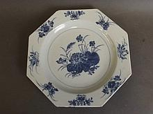 An early C19th Chinese porcelain plate of octagona