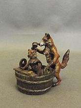 A Vienna style cold painted bronze figure of a fox
