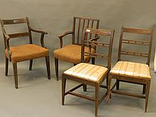 A pair of early C19th standard chairs and two elbo