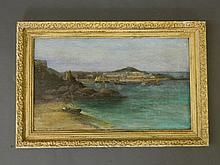 B. Vivian, signed oil on canvas, boats in a Cornis