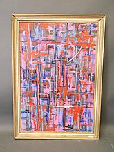 An oil on canvas, abstract, inscribed verso 'Rot H