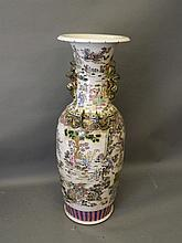 A Chinese famille verte porcelain floor vase with