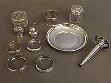 An assorted collection of Hallmarked silver to inc