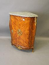 A late C18th French marquetry inlaid walnut and ro