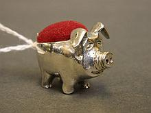 A silver 925 novelty pin cushion in the form of a