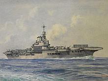 Oscar Parkes, watercolour, British naval aircraft