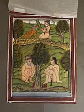 An early C20th Indian erotic miniature painting, f